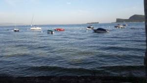 Hitte gisteren op het Gardameer: 35 graden (bron: Han Zwart).