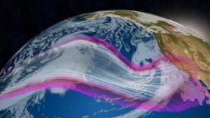 Nieuwe depressies trekken deze week van de Pacific naar California (bron: Jonathan Erdman).
