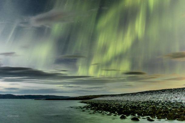 Fantastisch mooie Aurora Borealis boven de Barentsz Zee, 25 augustus (bron: via Kirill Bakanov).
