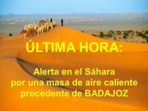 Extreme hitte in España (bron: @MeteoBadajoz).