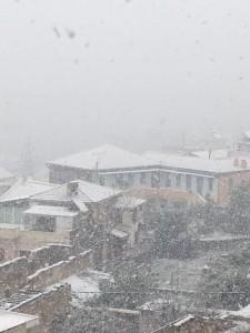 Sneeuwval in Chania, Kreta (bron: Maria Brebou).