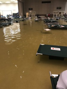 Flooded shelter in Port Arthur (bron: 12NewsNow).