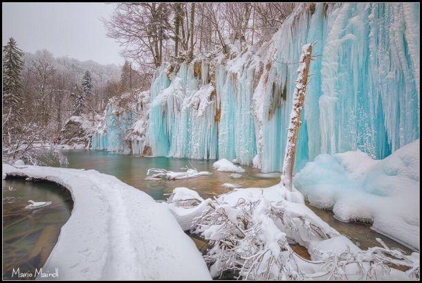 Winterse schoonheid in Kroatië, Nationaal park Plitvicemeren, 20 januari (bron: Mario Maindl).