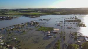 Overstromingen in de rurale gebieden van Las Pachecas bij Jerez (bron: David Saldaña).