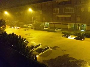 Noodweer in Livorno (bron:  Italia Live Meteo).