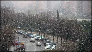 Sneeuw in Madrid (bron: Rubén del Campo).