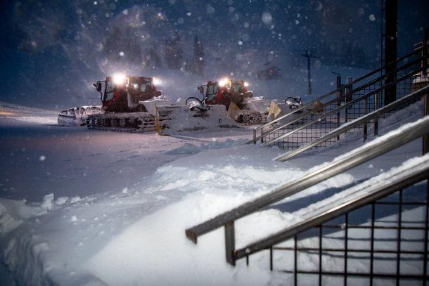 Dit is wat California nodig heeft: zware sneeuwval in de bergen, in dezen Mammoth Mountain. Daar viel de afgelopen 24 uur (28-29 november) meer dan een halve meter!