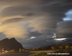 Lenticulariswolken boven Noord-Noorwegen, 2 oktober