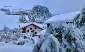 Zware sneeuwval in Obersaxen op 1300 meter hoogte, 28 oktober (bron: B. Kornmayer).