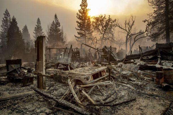 Apocalyptische bosbranden hebben Paradise in California zo goed als helemaal verwoest, 9 november 2018 (bron: Ed Joyce).
