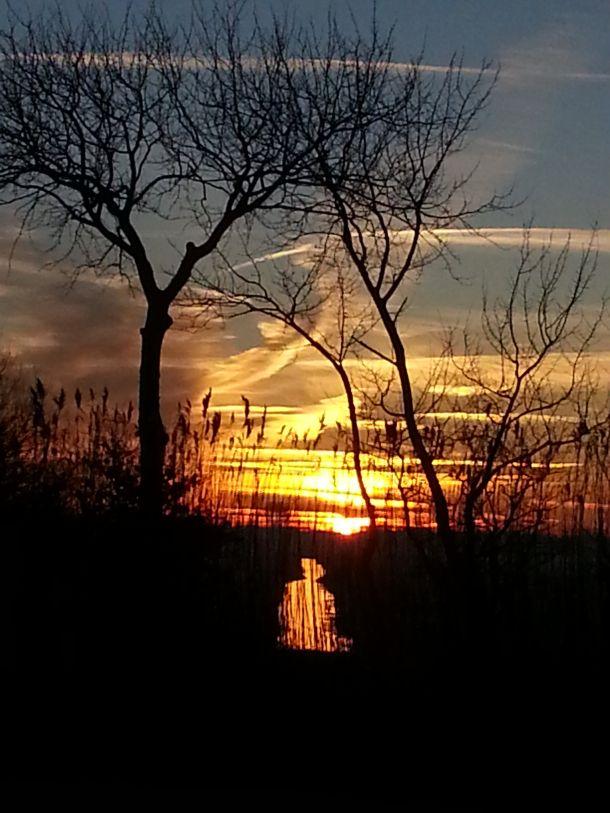 Schitterende dageraad vanochtend bij Schagerbrug (bron: Karel Kok).