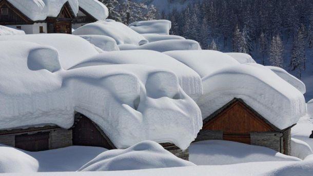 Südstau in de Alpen, 7 januari: nog meer sneeuw onderweg (bron: Johanns (Alpen)weer).