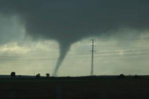 Tornado op 4 maart in Gibraleon, Huelva (bron: Objetivo Tormenta).