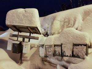 Imposant sneeuwdek in Tromsø (bron: Meteorologene).
