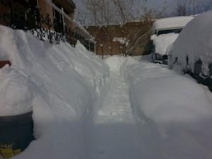 Hevige sneeuwval (30-60 cm) in het oosten van Turkije, 14 december (bron: via Severe Weather).