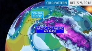 Koudegolf Alaska (bron: The Weather Channel).