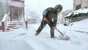 Ter verkoeling: Sneeuwval in New Bedford, Massachusetts (bron: Peter Pereira).