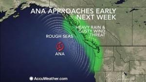ANA bepaalt begin volgende week het weer in delen van Canada en de VS