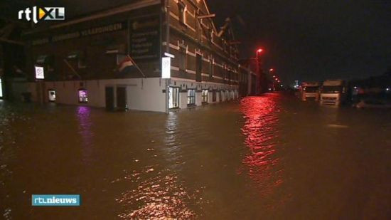 Wateroverlast Rotterdam