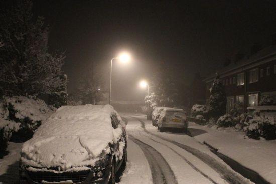 Prachtig sneeuwdek in Wolvega vanochtend