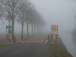 Vanochtend mist in Briltil bij Zuidhorn (bron: Gerard Kiewiet).