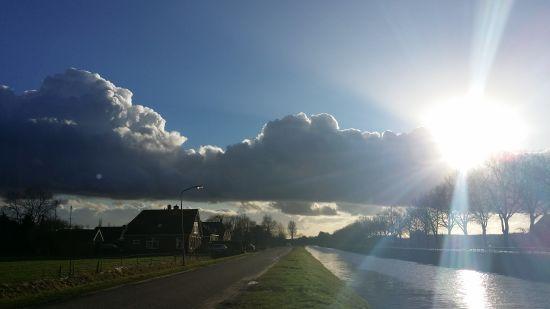 Fraai afgetekende stapelwolken