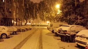 Volop sneeuw vanochtend in Denia aan de Costa Blanca (bron: GVA 112CV)