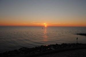 Mooie zonsopkomst vanochtend boven het Markermeer (bron: Thijs Spijker).