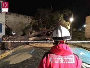 Schade door noodweer afgelopen nacht in de provincie Castellon.