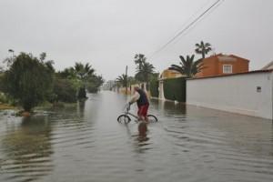 Wateroverlast in Torrevieja (bron: Proyecto Mastral).